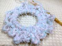 ☆涼しい色の編みシュシュ☆ - ガジャのねーさんの  空をみあげて☆ Hazle cucu ☆