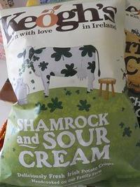 シャムロック風味のポテトチップス - エール備忘録 -Ireland かわら版-