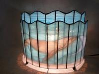 くじらのランプ - atelier GLADYS  ステンドグラス工房 作り手の日々