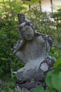 新緑耀く青龍山吉祥寺⑤石仏 - 風の彩り-2