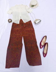 Coodinate lace blouse - carboots