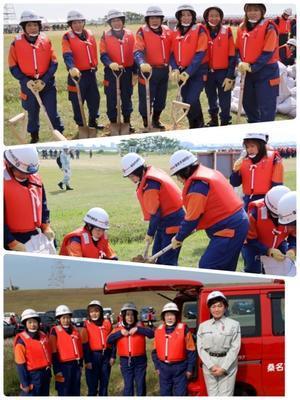 5月26日    令和元年水防訓練 - 桑名市女性消防団