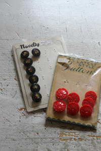 ヴィンテージのガラスボタンを買いました - フェルタート(R)・オフフープ(R)立体刺繍作家PieniSieniのブログ
