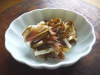 モズクと長芋、みょうがの甘酢あえ - LEAFLabo