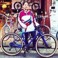 ☆本日のバイシクルガール☆ 自転車女子 自転車ガール ミニベロ クロスバイク ライトウェイ トーキョーバイク シュウイン ラレー ブルーノ おしゃれ自転車 マリン ターン - サイクルショップ『リピト・イシュタール』 スタッフのあれこれそれ
