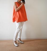 リネン100%生地で夏のタンクトップブラウスを作りました♫ - 親子お揃いコーデ服omusubi-five(オムスビファイブ)