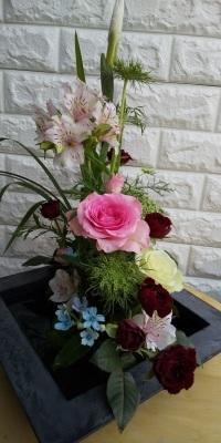 菖蒲と薔薇🌹☘️ - Flower ID. DESIGN