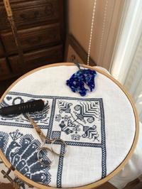 Linen and Threads Mystery Sampler 10 - いとの色