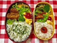ミンチカツ&ハンバーグ★(^^♪・・・・・子供弁当 - 日だまりカフェ