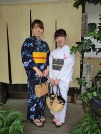 浴衣はやっぱり、紺色、白がいいなあと。 - 京都嵐山 着物レンタル「遊月」