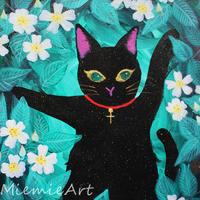 野バラと黒猫 - poem  art. ***ココロの景色***