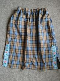 ストレッチタータンのスカート - うららフェルトライフ