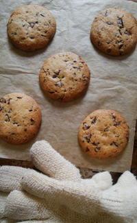 ピーナッツペーストとチョコチップのクッキー - Baking Daily@TM5