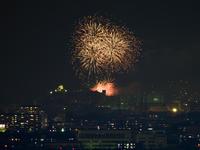 木曽川うかい開きオープニング花火と犬山城 - 千種観測所