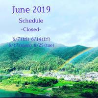 6月の定休日と営業時間変更日のお知らせ - てのひら日記
