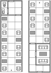 【TRPGモジュール】室内マップ:寝台列車 - セメタリープライム2