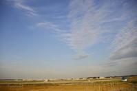 2019.3.19 茨城空港 - 青空に浮かぶ月を眺めながら