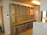 食器棚(カップボード)の納品 - 手作り家具工房の記録