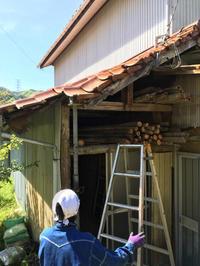 屋根ー!柱ー!よくぞ倒れずにいてくれました。 - 風のいろ