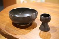 陶の器 - 宙吹きガラスの器