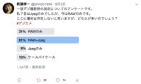 2019/06/04Twitter上でのアンケート - shindoのブログ