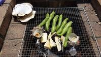 今年最初のバーベキュー、平成最後かも? - 牡蠣を煮ていた午後