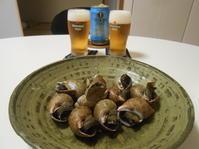 豆と貝と山菜と鶏と。 - のび丸亭の「奥様ごはんですよ」日本ワインと日々の料理