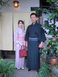 落ちついたお着物姿です。 - 京都嵐山 着物レンタル「遊月」