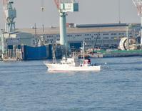 芒種!、漁業取締船「いせはま」出港 frm 神戸 - みなと神戸 のんびり風物詩