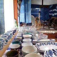 藍染め と うつわ - 森の工房 Flower Work ナチュラルスローな空間