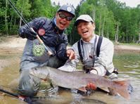 北海道・朱鞠内湖のイトウフライフィッシング釣行に行ってきました - Fly Fishing Total Support.TEAL