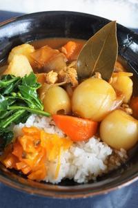 ■昼ご飯【豪快に!チキンカレー丼】 ハウスこくまろカレールー使用です♪ - 「料理と趣味の部屋」
