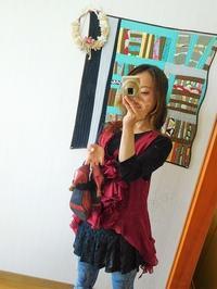ワインレッドの服 - eri-quilt日記3