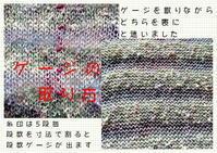 ☆フレンチ機械編み - ひまわり編み物