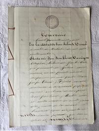 手書き書類67 - スペイン・バルセロナ・アンティーク gyu's shop