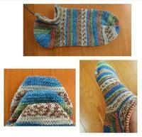 お好みサイズの靴下を編む - 空色テーブル  編み物レッスン