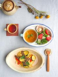 パスタ朝ごはん - 陶器通販・益子焼 雑貨手作り陶器のサイトショップ 木のねのブログ