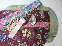 ハンドメイドバッグをカトラリーケースにリメイク 5 - Lien Style (リアン スタイル)