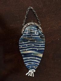 ブルー手編みの小銭入れ - スペイン・バルセロナ・アンティーク gyu's shop