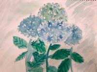 6/9 子供アート教室 〜紫陽花を描こう〜 - miwa-watercolor-garden