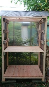夫が作ってくれた玉ねぎ小屋を修理しました - 楽しく元気に暮らします(心満たされる生活)