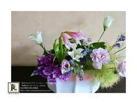 季節のお花たち、紫陽花と笹目百合、そしてけむり草たちと - Bouquets_ryoko