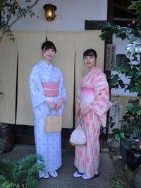 爽やかなお着物のお二人さん。 - 京都嵐山 着物レンタル「遊月」