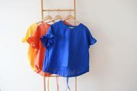 フリル袖のリネンブラウスが完成しました♫ - 親子お揃いコーデ服omusubi-five(オムスビファイブ)