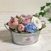 クレイでバケツブーケを作ってみた - Sweets Studio Floretta* Flower Cake & Sweets Class@SHIGA