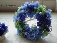 紫陽花リース☆ - お花とマインドフルネスな時間 ~花工房GreenBell~