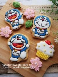 ドラえもんのアイシングクッキー - nanako*sweets-cafe♪