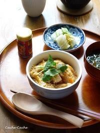 ストウブでふわとろ親子丼「つまんでご卵」使用 - Cache-Cache+