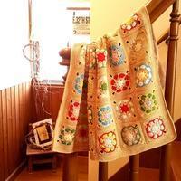 kanaさんのお家へ。。cotton ブランケット* - Natural style*
