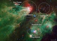 スピッツアー宇宙望遠鏡が捉えたケフェウス座の散光星雲シャープレス2-155 - 秘密の世界        [The Secret World]